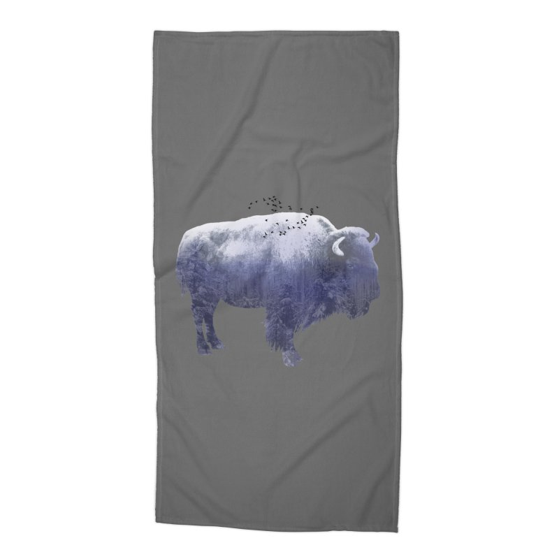 WINTER BISON Accessories Beach Towel by jrtoyman's Artist Shop