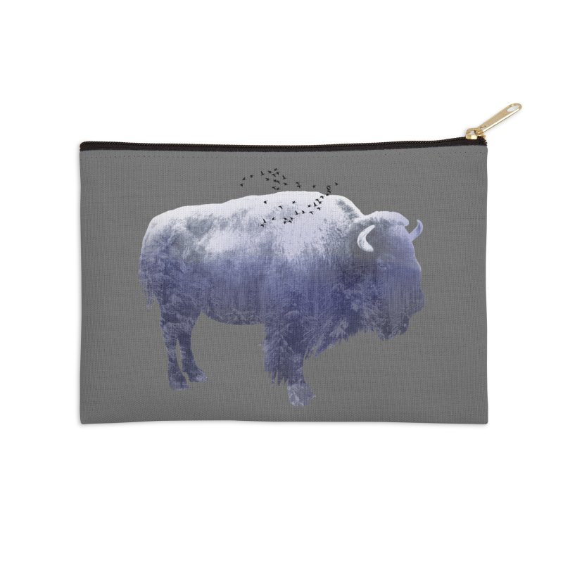 WINTER BISON Accessories Zip Pouch by jrtoyman's Artist Shop