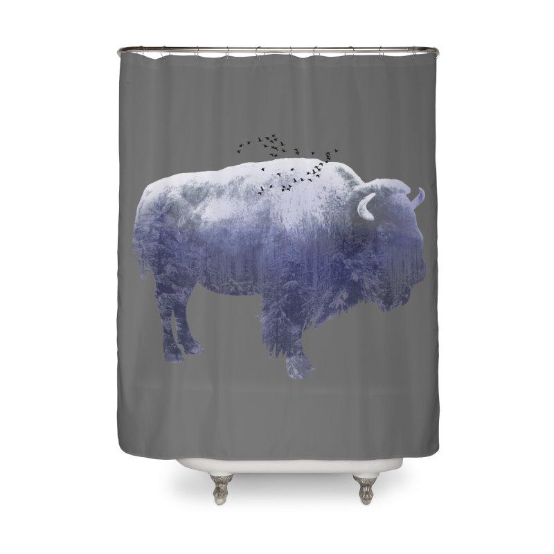 WINTER BISON Home Shower Curtain by jrtoyman's Artist Shop