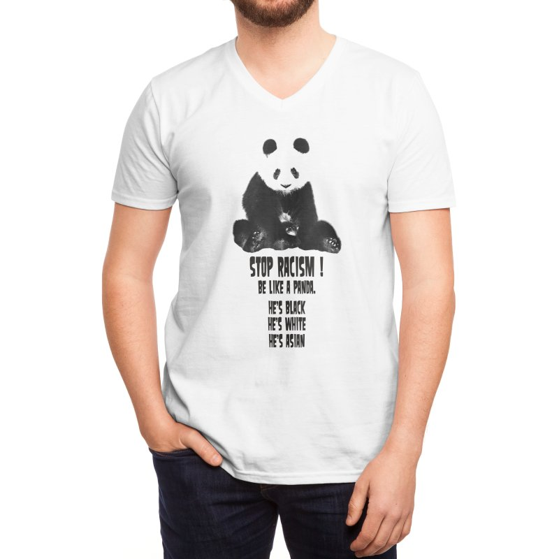 STOP RACISM! Men's V-Neck by jrtoyman's Artist Shop