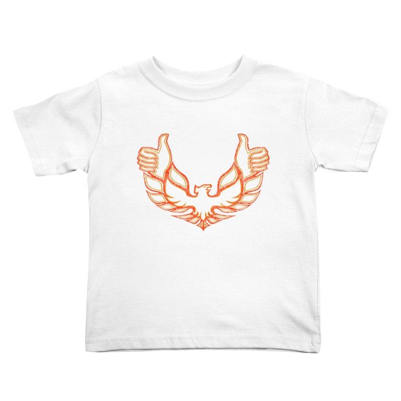 THUMBS UP BIRD! Kids Toddler T-Shirt by jrtoyman's Artist Shop