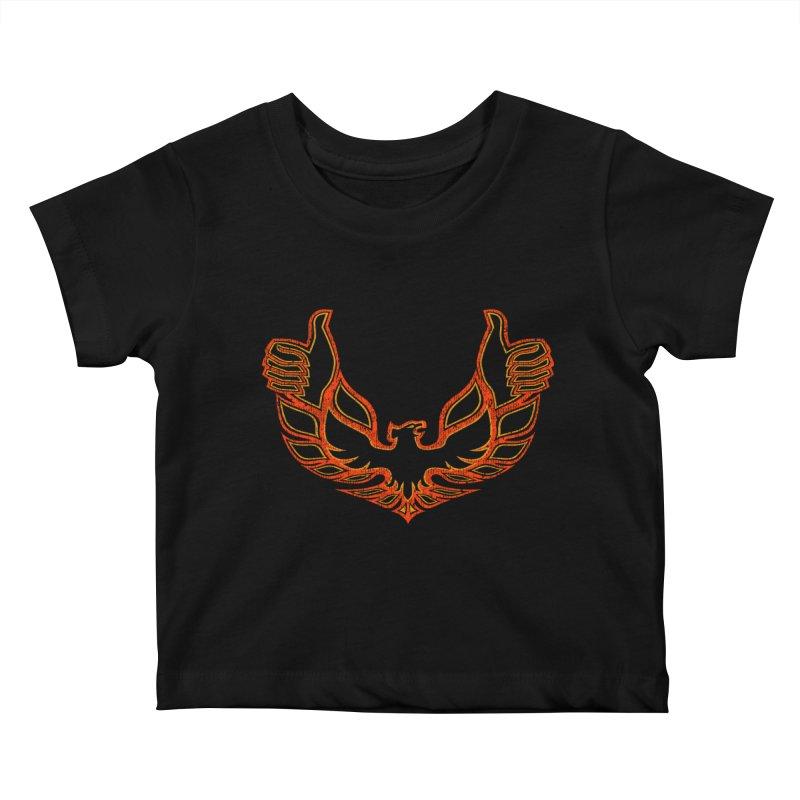 THUMBS UP BIRD! Kids Baby T-Shirt by jrtoyman's Artist Shop
