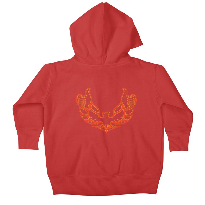 THUMBS UP BIRD! Kids Baby Zip-Up Hoody by jrtoyman's Artist Shop