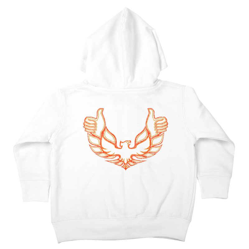 THUMBS UP BIRD! Kids Toddler Zip-Up Hoody by jrtoyman's Artist Shop