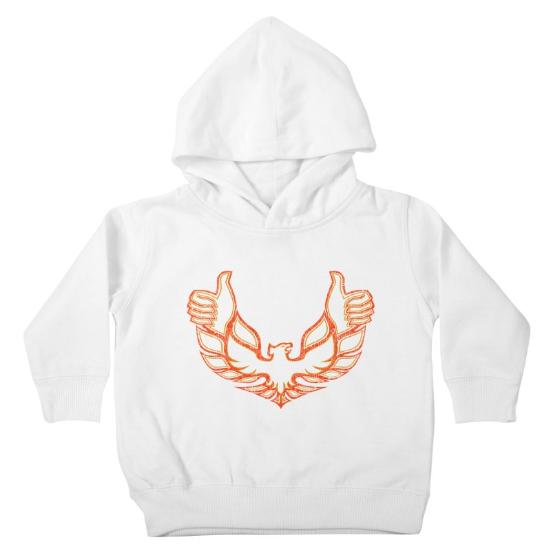 THUMBS UP BIRD! Kids Toddler Pullover Hoody by jrtoyman's Artist Shop