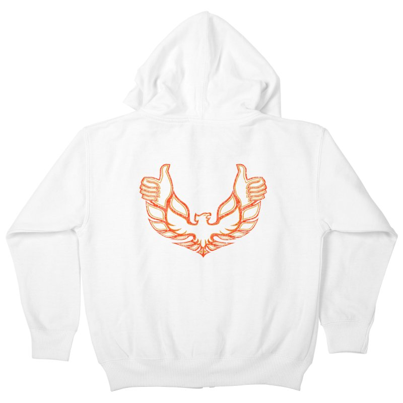 THUMBS UP BIRD! Kids Zip-Up Hoody by jrtoyman's Artist Shop