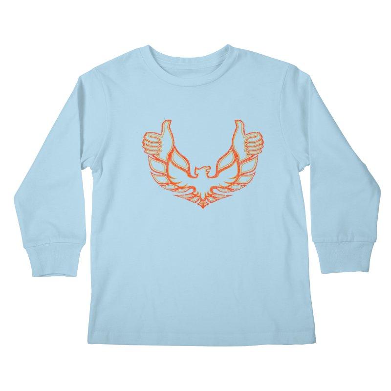 THUMBS UP BIRD! Kids Longsleeve T-Shirt by jrtoyman's Artist Shop