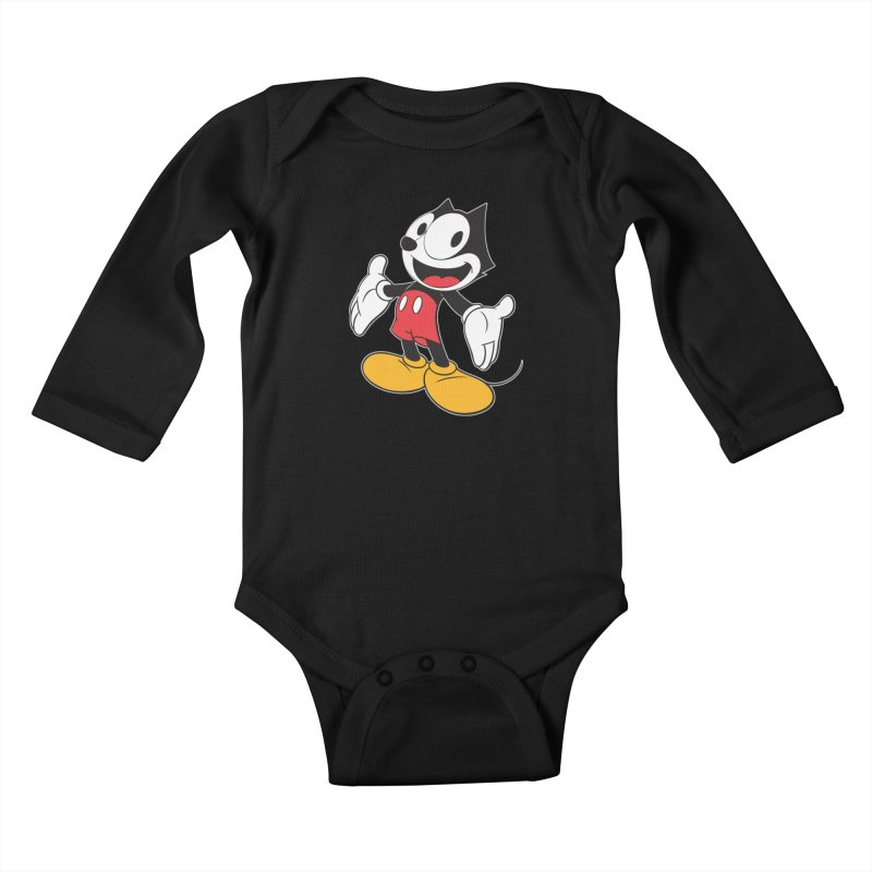 FELIX THE MOUSE Kids Baby Longsleeve Bodysuit by jrtoyman's Artist Shop