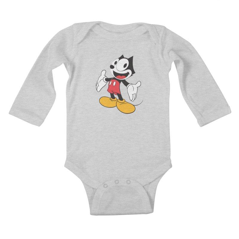 FELIX THE MOUSE Kids Baby Longsleeve Bodysuit by jrtoyman's Artist Shop