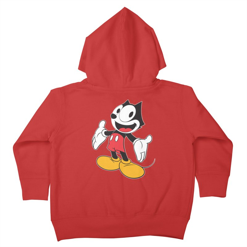 FELIX THE MOUSE Kids Toddler Zip-Up Hoody by jrtoyman's Artist Shop