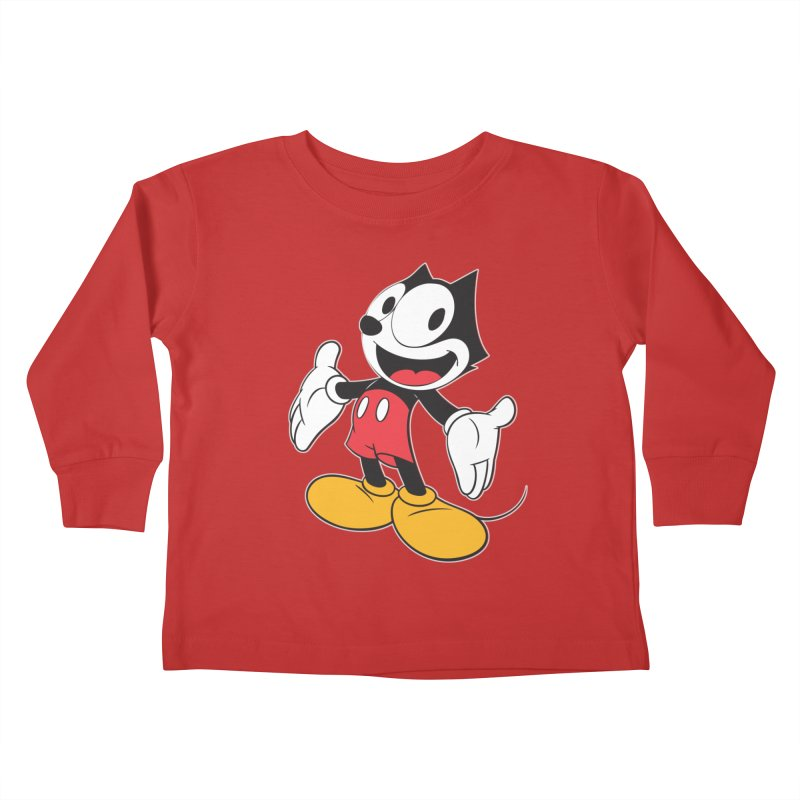 FELIX THE MOUSE Kids Toddler Longsleeve T-Shirt by jrtoyman's Artist Shop