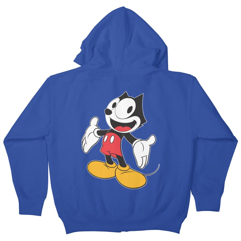 FELIX THE MOUSE Kids Zip-Up Hoody by jrtoyman's Artist Shop