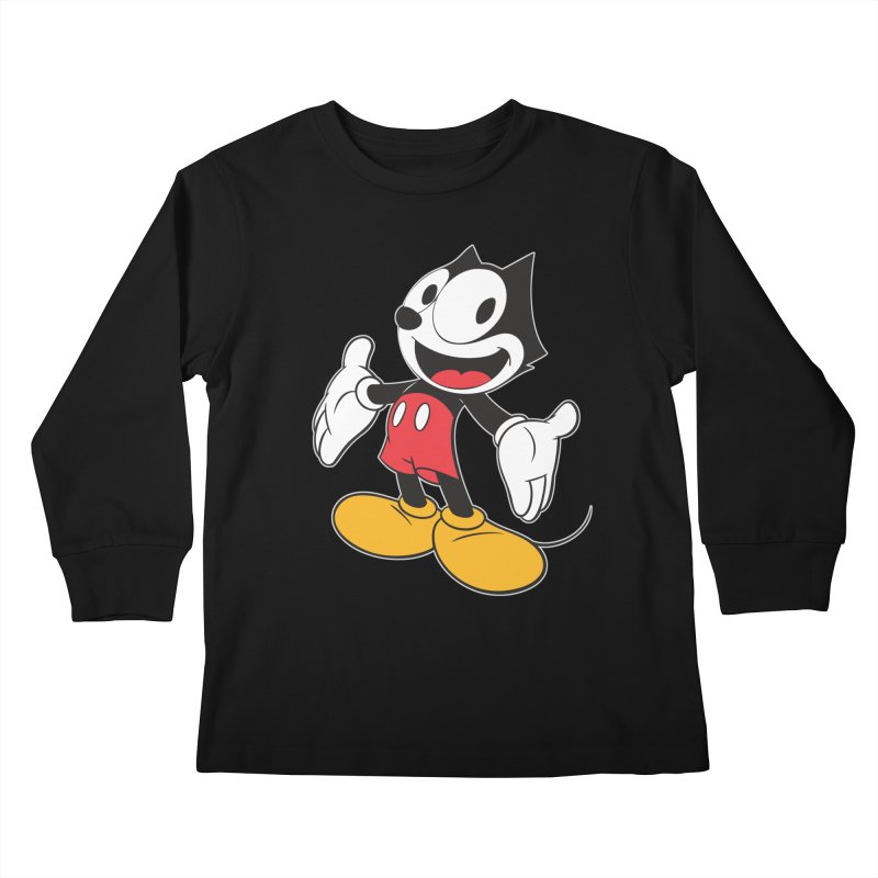 FELIX THE MOUSE Kids Longsleeve T-Shirt by jrtoyman's Artist Shop