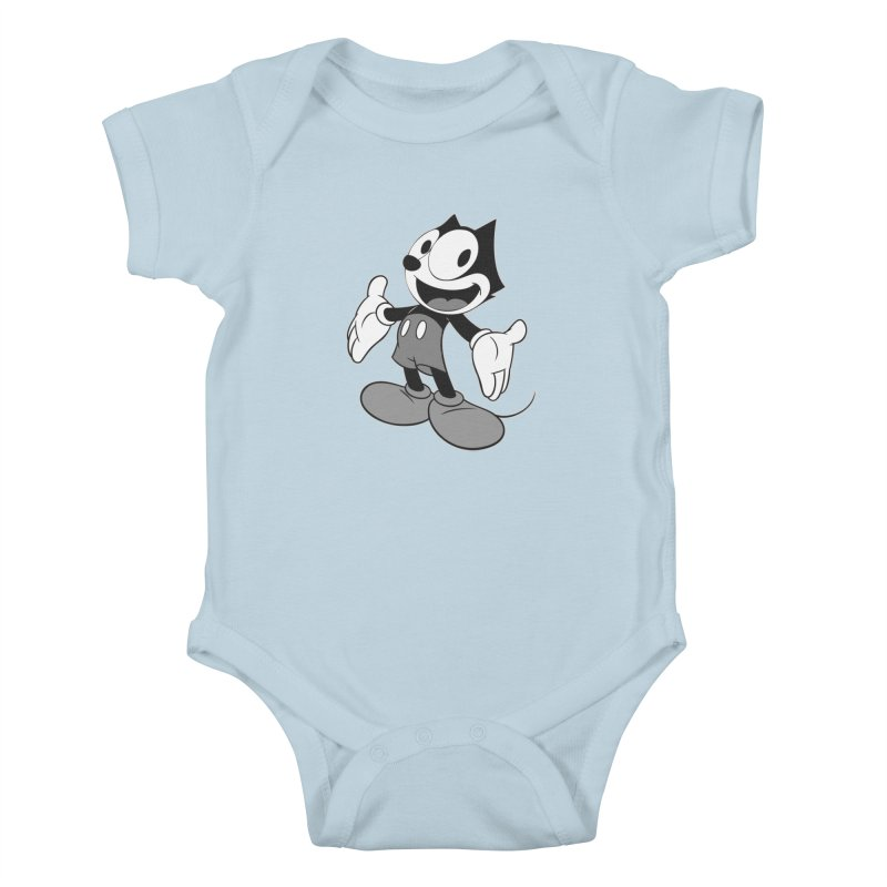 FELIX THE MOUSE-gray variant Kids Baby Bodysuit by jrtoyman's Artist Shop