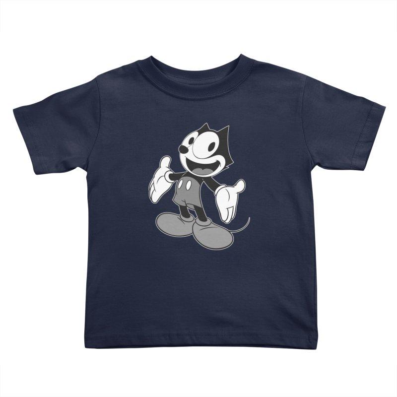FELIX THE MOUSE-gray variant Kids Toddler T-Shirt by jrtoyman's Artist Shop