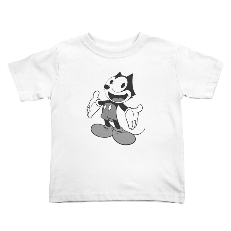 FELIX THE MOUSE-gray variant Kids Toddler T-Shirt by jrtoyman's Artist Shop