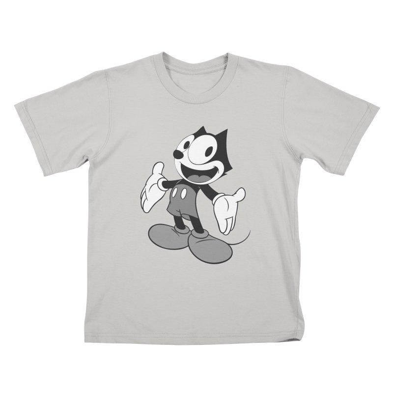 FELIX THE MOUSE-gray variant Kids T-shirt by jrtoyman's Artist Shop