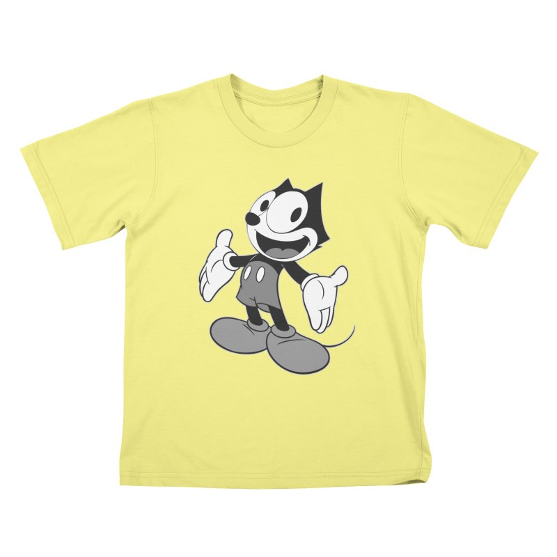 FELIX THE MOUSE-gray variant Kids T-shirt by jrtoyman's Artist Shop