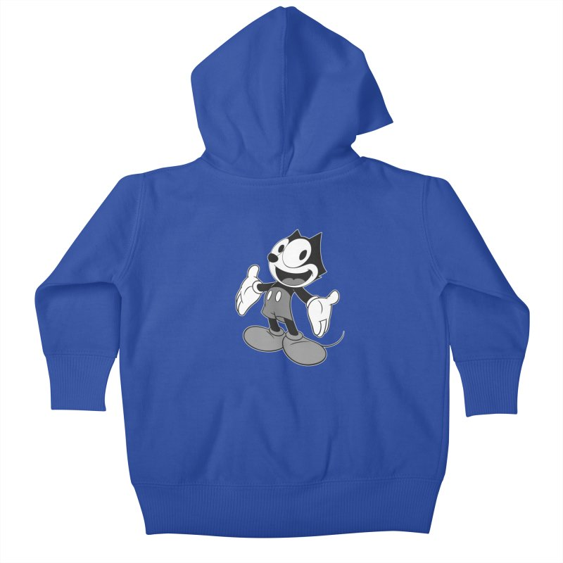 FELIX THE MOUSE-gray variant Kids Baby Zip-Up Hoody by jrtoyman's Artist Shop