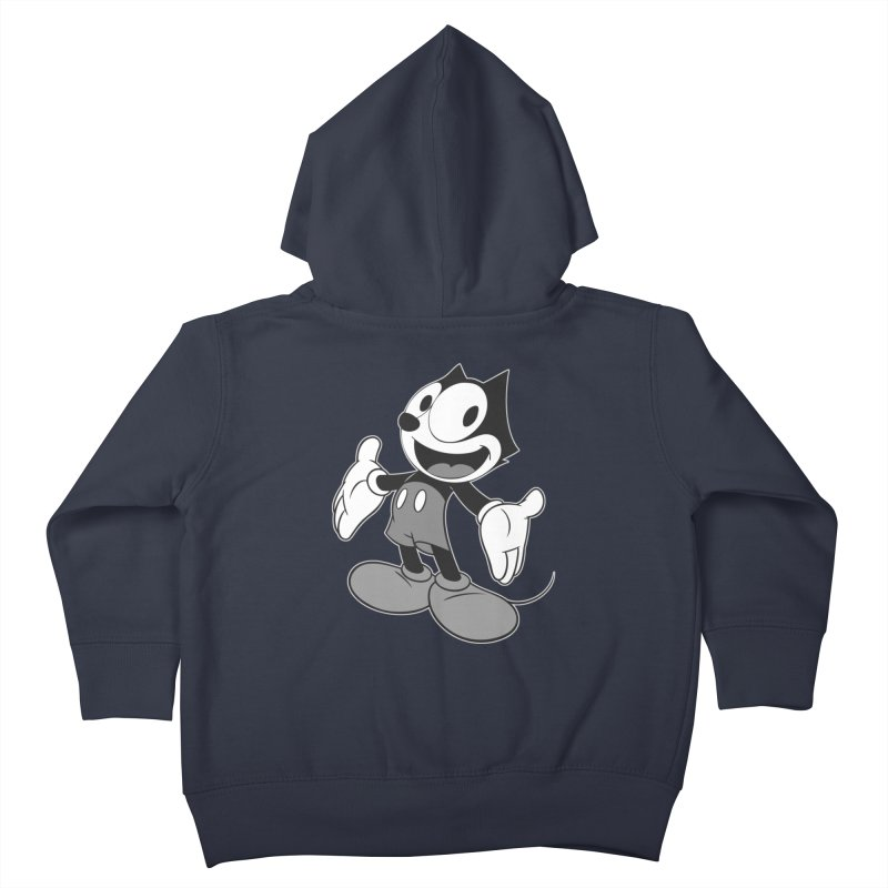FELIX THE MOUSE-gray variant Kids Toddler Zip-Up Hoody by jrtoyman's Artist Shop