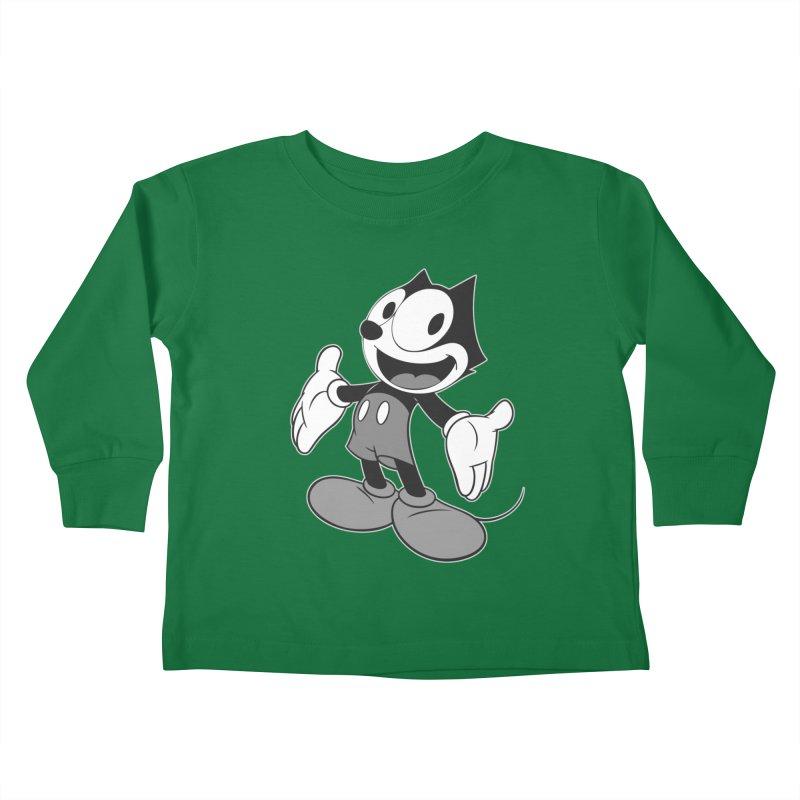 FELIX THE MOUSE-gray variant Kids Toddler Longsleeve T-Shirt by jrtoyman's Artist Shop