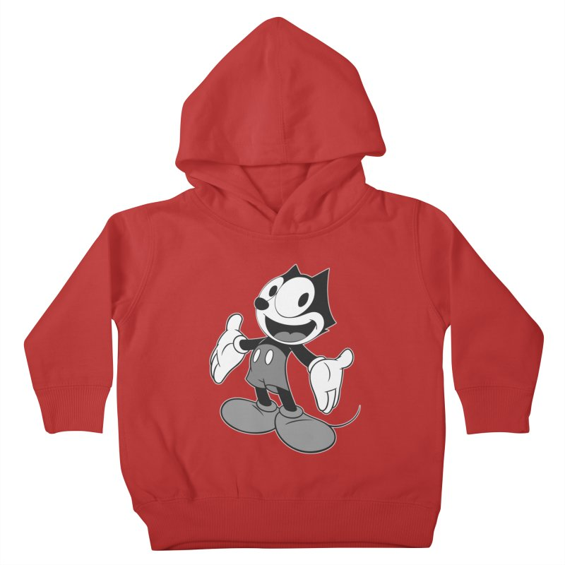 FELIX THE MOUSE-gray variant Kids Toddler Pullover Hoody by jrtoyman's Artist Shop