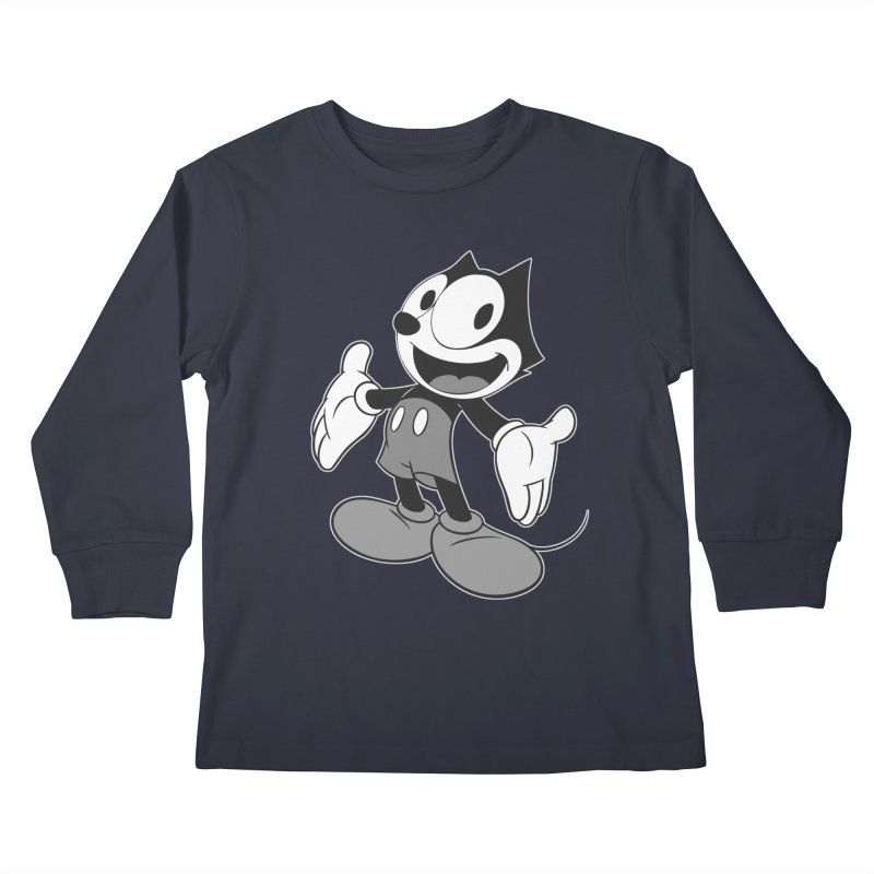 FELIX THE MOUSE-gray variant Kids Longsleeve T-Shirt by jrtoyman's Artist Shop