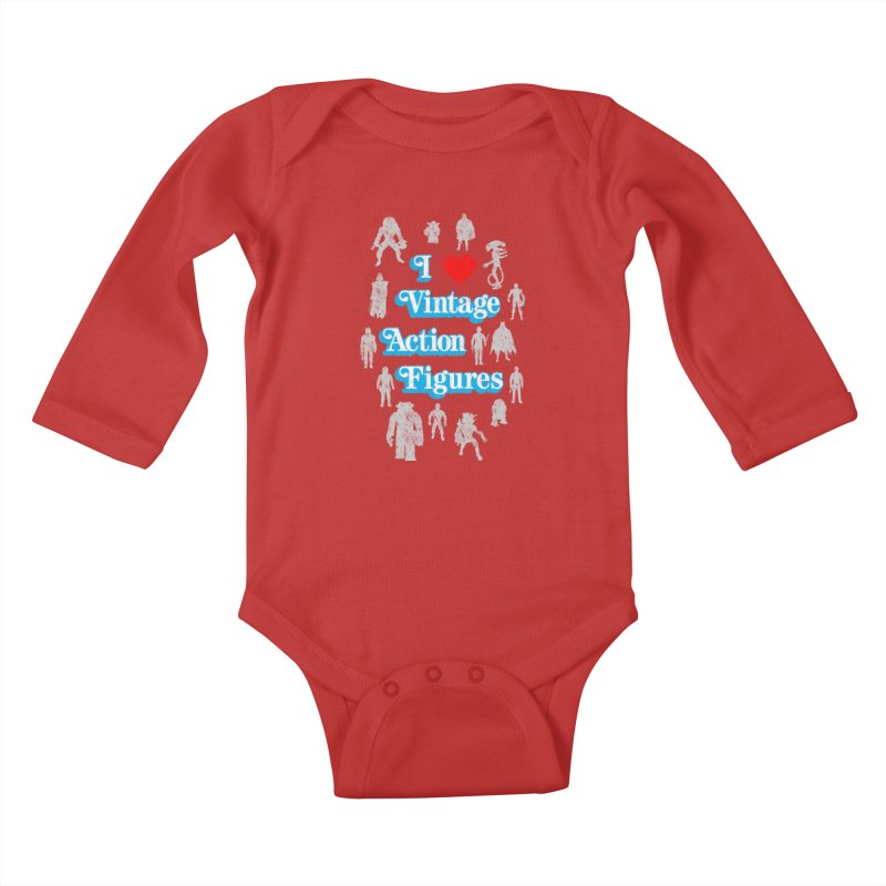 I LOVE VINTAGE FIGURES Kids Baby Longsleeve Bodysuit by jrtoyman's Artist Shop
