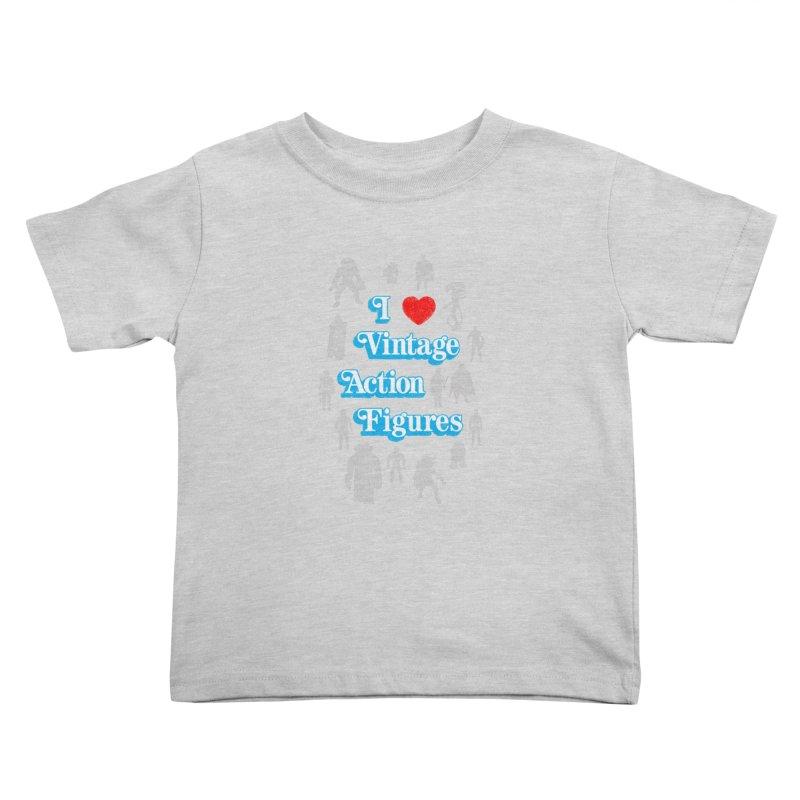 I LOVE VINTAGE FIGURES Kids Toddler T-Shirt by jrtoyman's Artist Shop