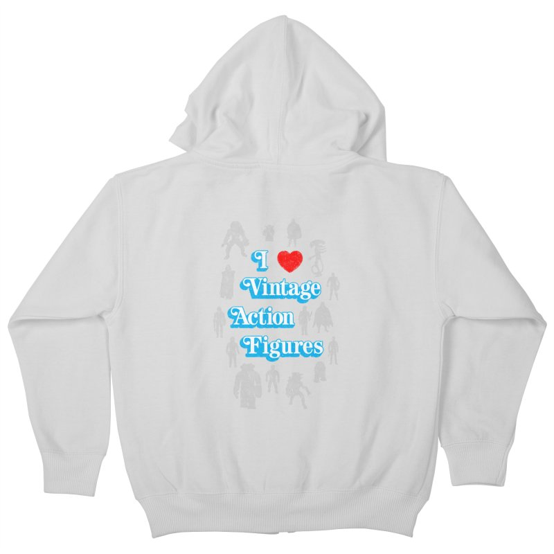 I LOVE VINTAGE FIGURES Kids Zip-Up Hoody by jrtoyman's Artist Shop