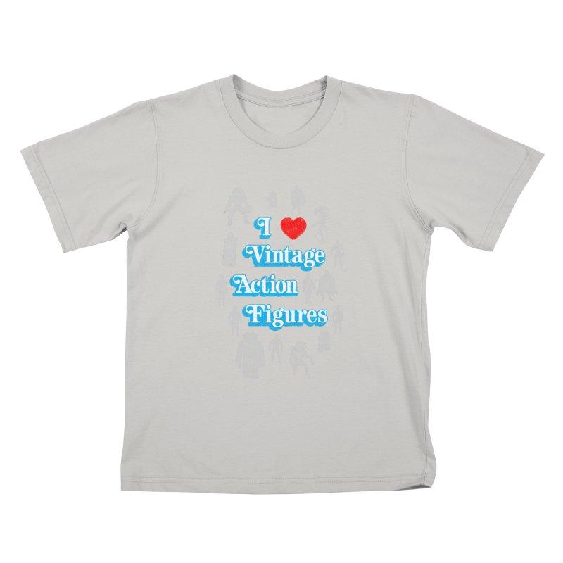 I LOVE VINTAGE FIGURES Kids T-shirt by jrtoyman's Artist Shop