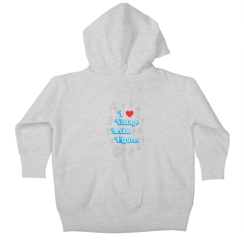 I LOVE VINTAGE FIGURES Kids Baby Zip-Up Hoody by jrtoyman's Artist Shop