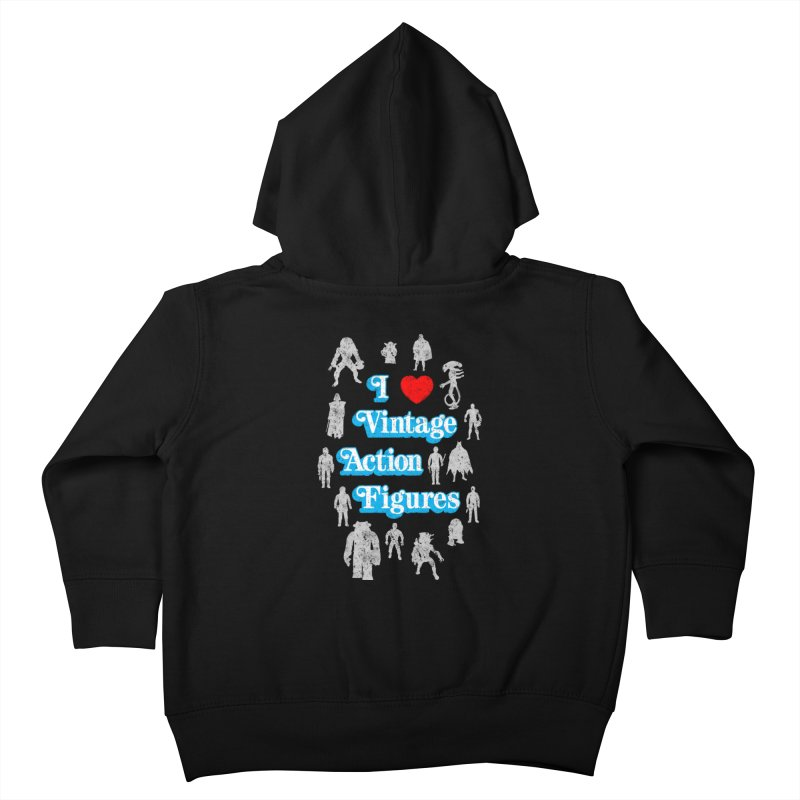 I LOVE VINTAGE FIGURES Kids Toddler Zip-Up Hoody by jrtoyman's Artist Shop
