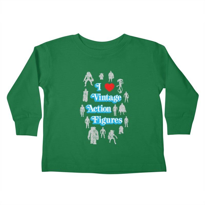 I LOVE VINTAGE FIGURES Kids Toddler Longsleeve T-Shirt by jrtoyman's Artist Shop