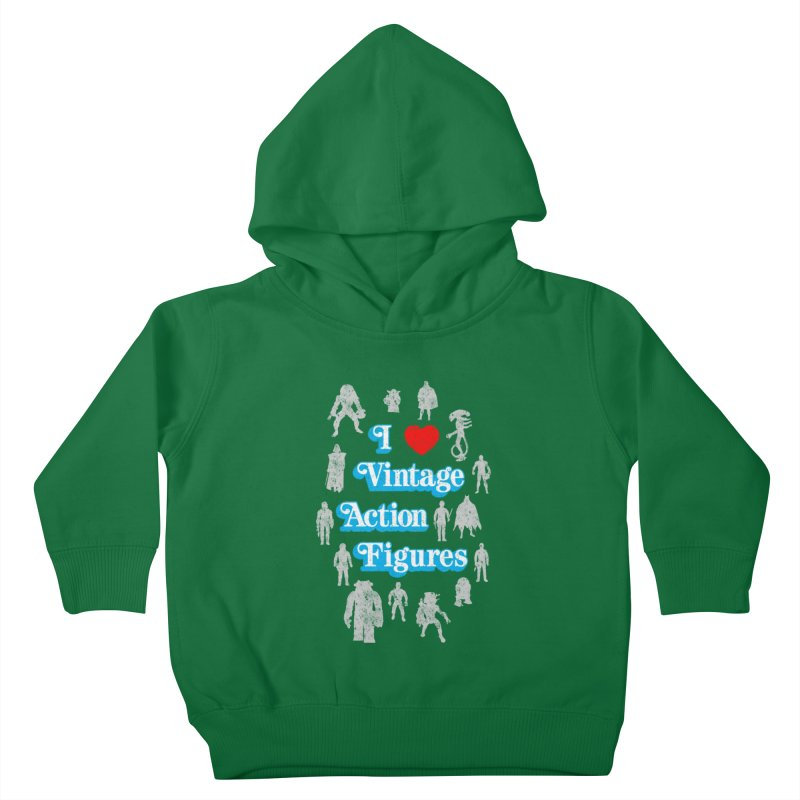 I LOVE VINTAGE FIGURES Kids Toddler Pullover Hoody by jrtoyman's Artist Shop