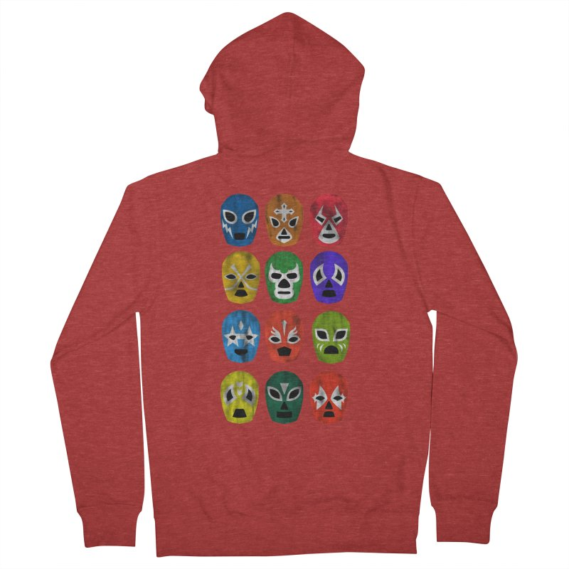 LUCHADORES Women's Zip-Up Hoody by jrtoyman's Artist Shop
