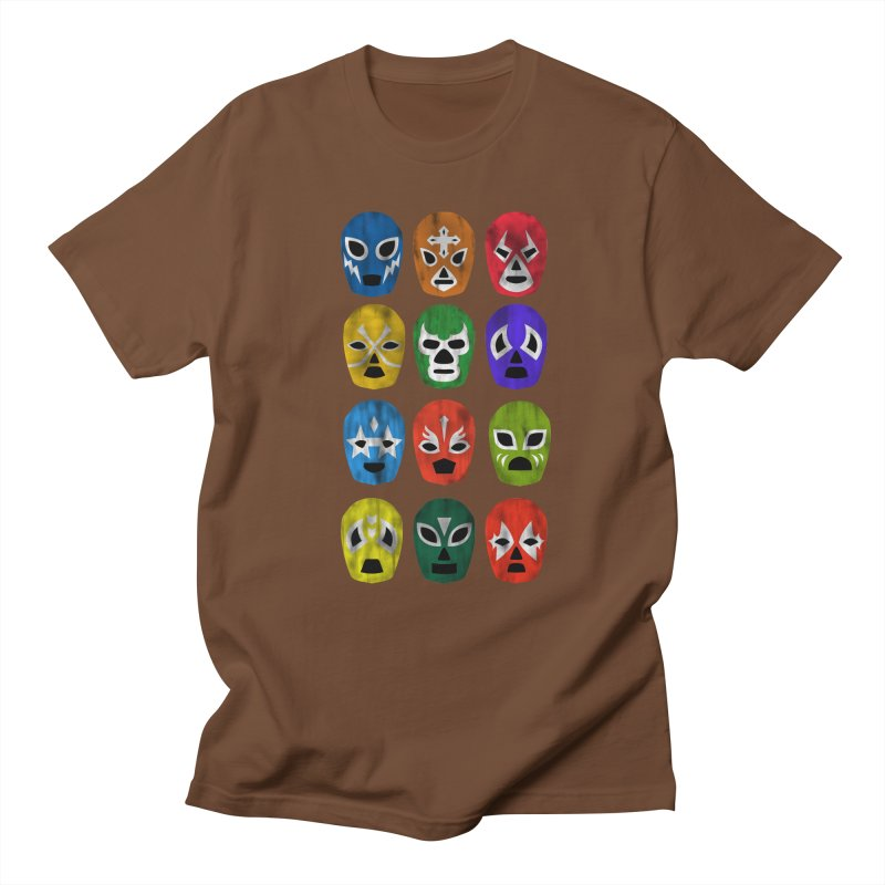 LUCHADORES Men's T-shirt by jrtoyman's Artist Shop
