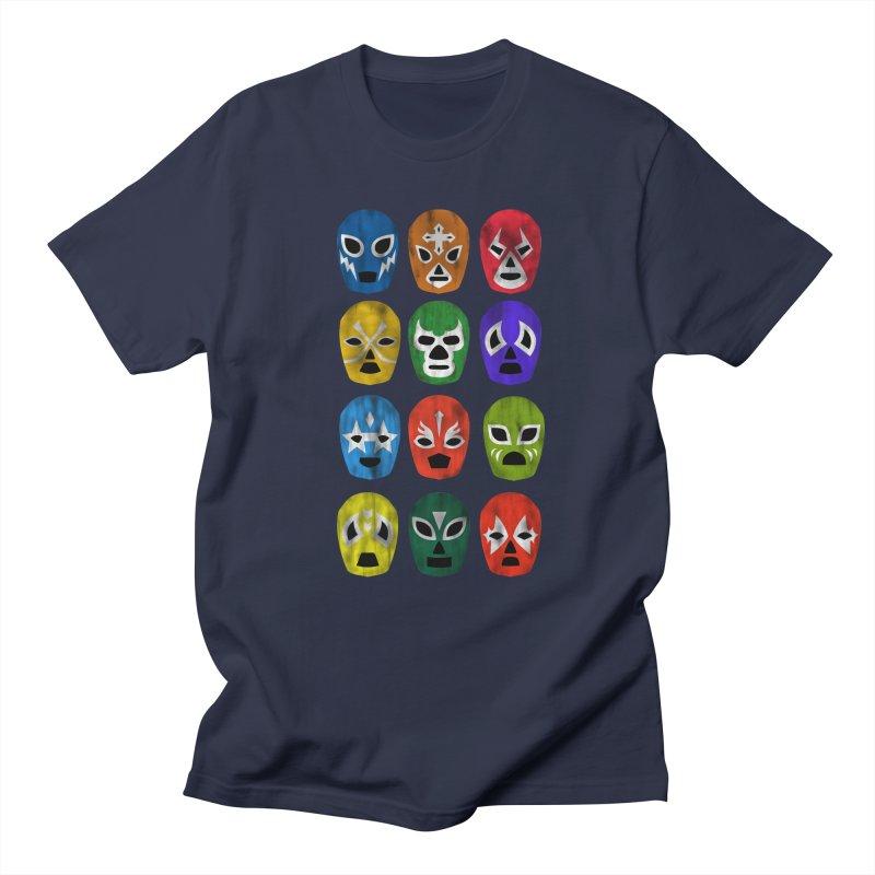LUCHADORES Men's T-shirt by jrtoyman's Artist Shop