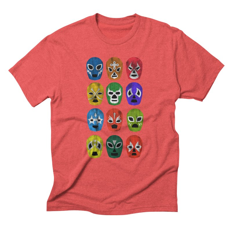 LUCHADORES Men's Triblend T-shirt by jrtoyman's Artist Shop
