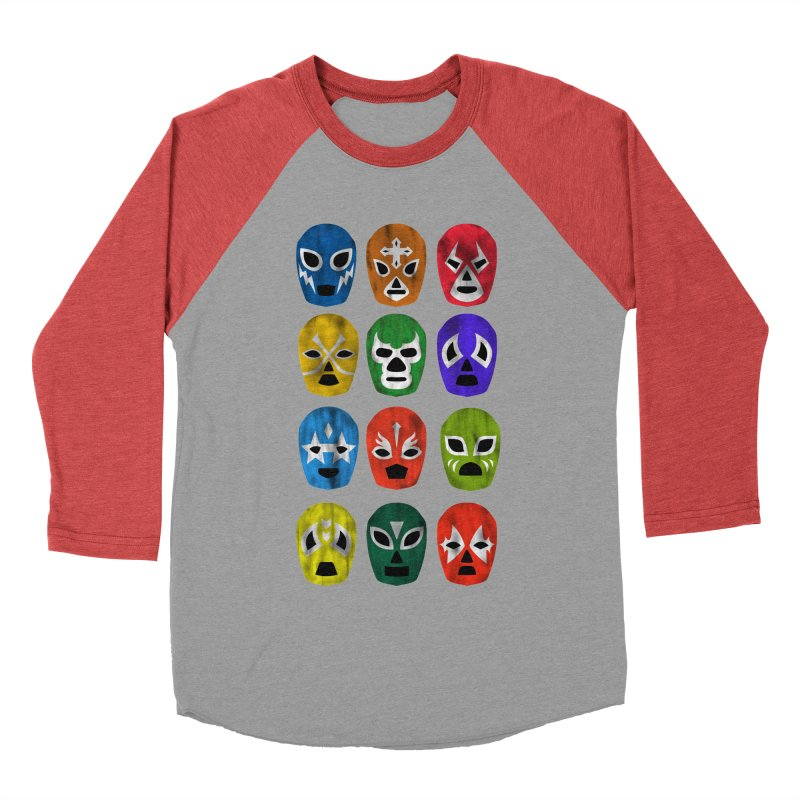 LUCHADORES Women's Baseball Triblend T-Shirt by jrtoyman's Artist Shop