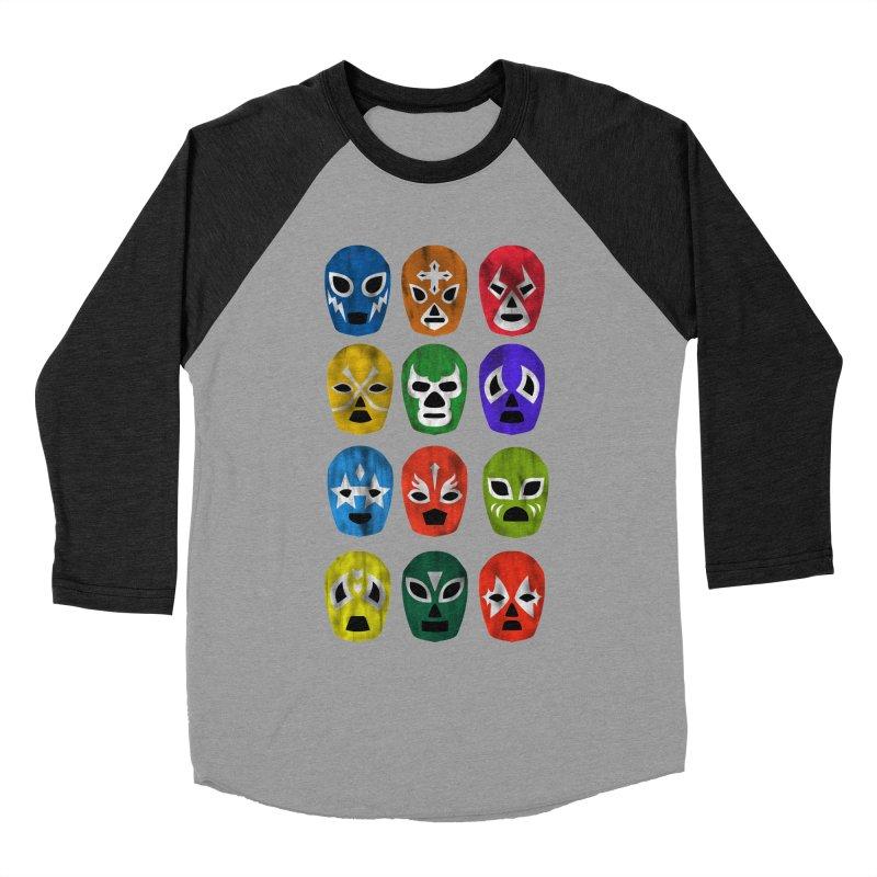 LUCHADORES Men's Baseball Triblend T-Shirt by jrtoyman's Artist Shop