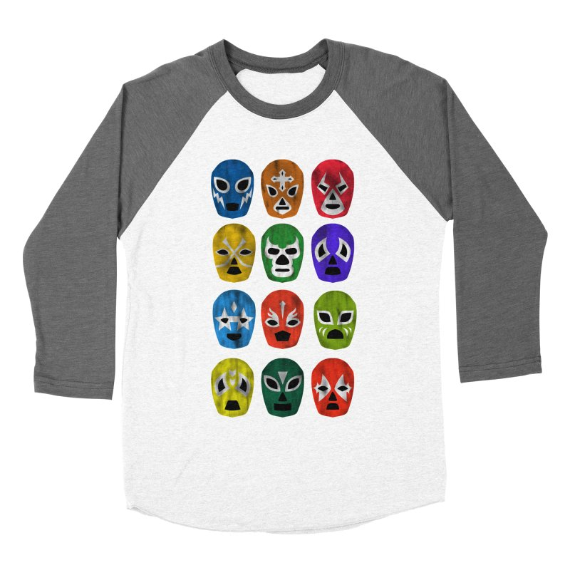 LUCHADORES Men's Baseball Triblend T-Shirt by jrtoyman's Artist Shop