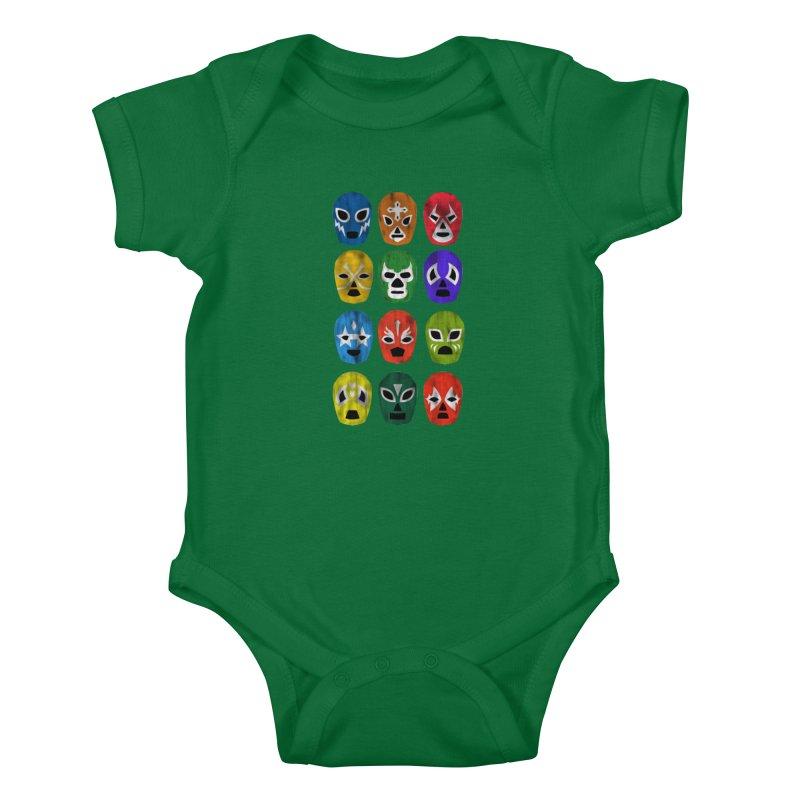 LUCHADORES Kids Baby Bodysuit by jrtoyman's Artist Shop