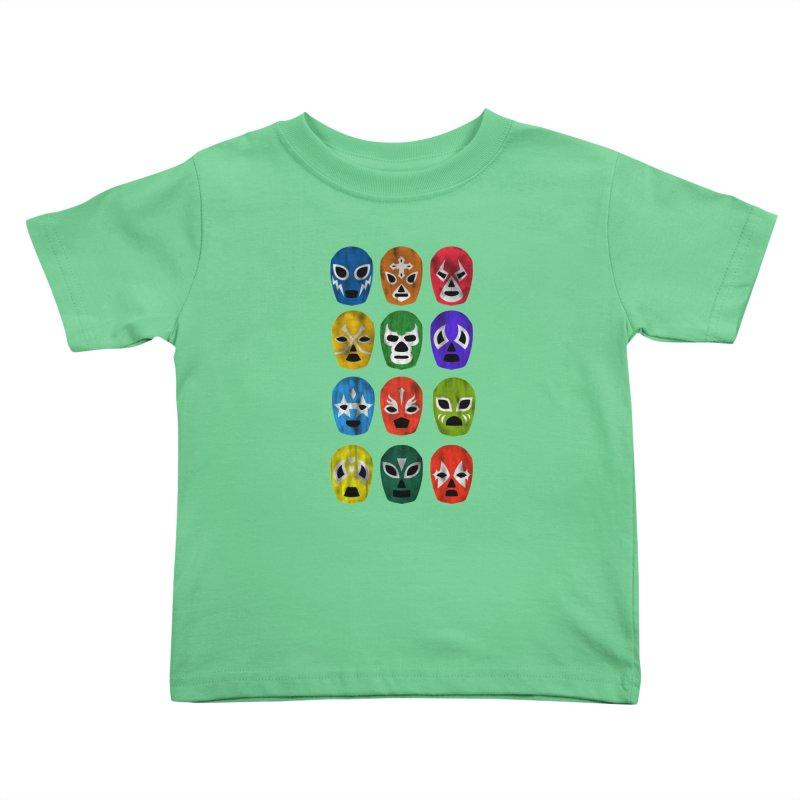 LUCHADORES Kids Toddler T-Shirt by jrtoyman's Artist Shop