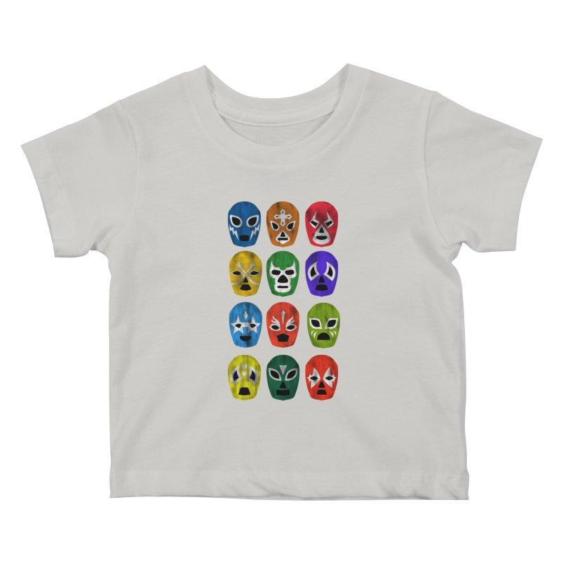 LUCHADORES Kids Baby T-Shirt by jrtoyman's Artist Shop