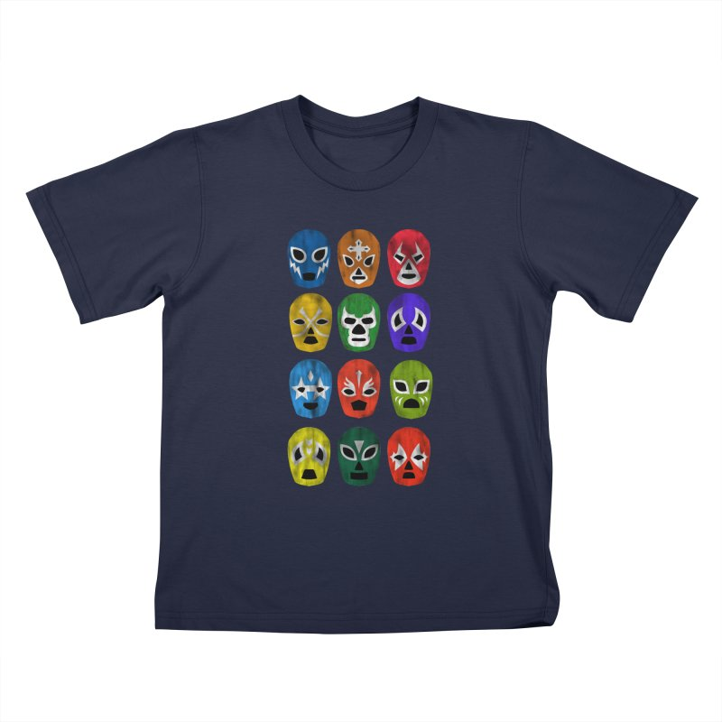 LUCHADORES Kids Toddler T-Shirt by jrtoyman's Artist Shop