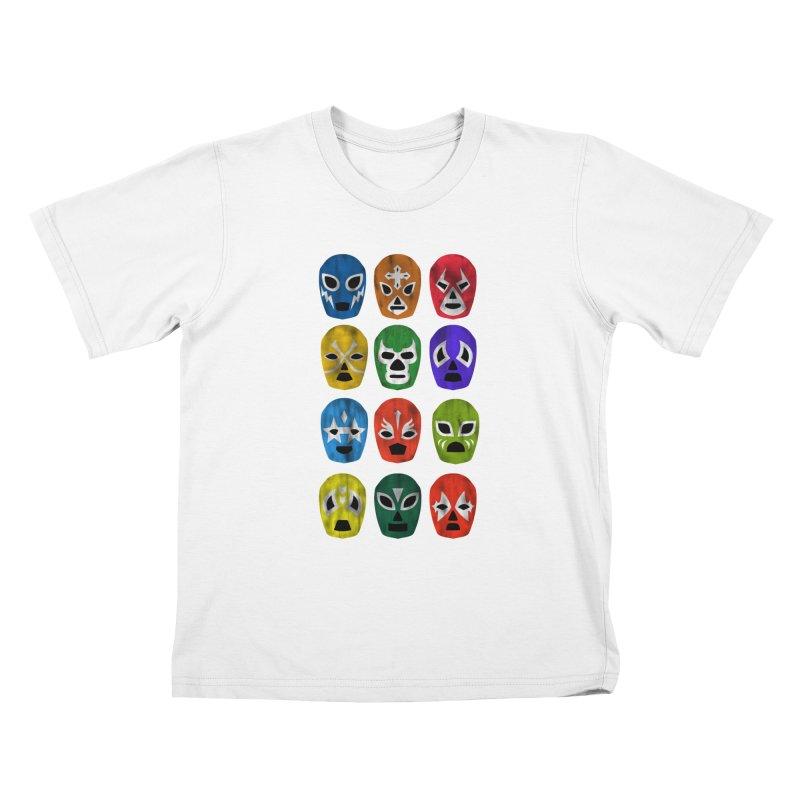 LUCHADORES Kids T-shirt by jrtoyman's Artist Shop
