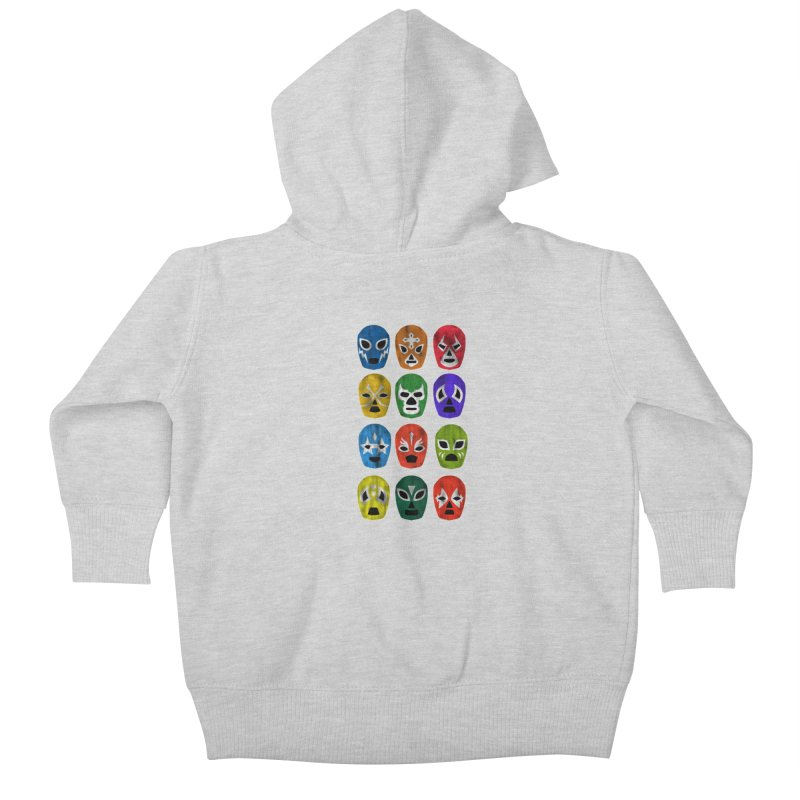 LUCHADORES Kids Baby Zip-Up Hoody by jrtoyman's Artist Shop