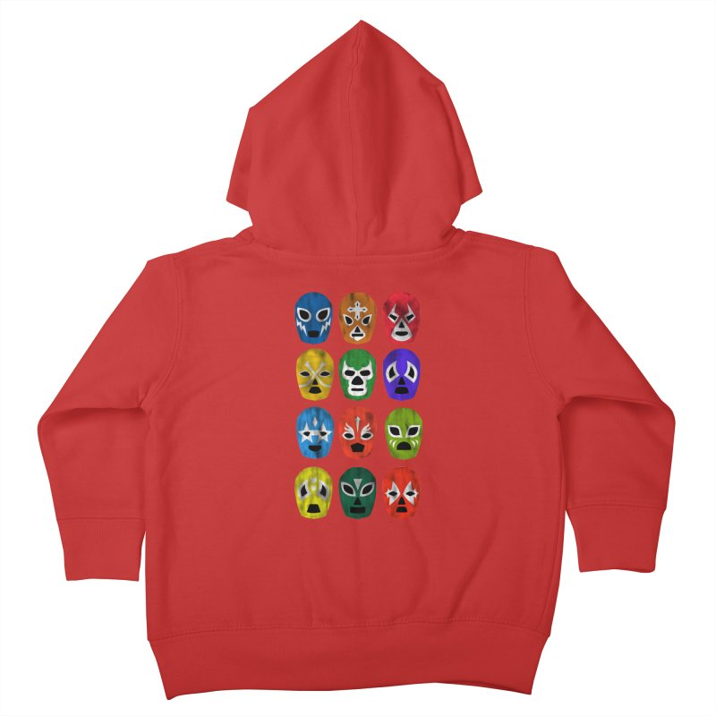LUCHADORES Kids Toddler Zip-Up Hoody by jrtoyman's Artist Shop