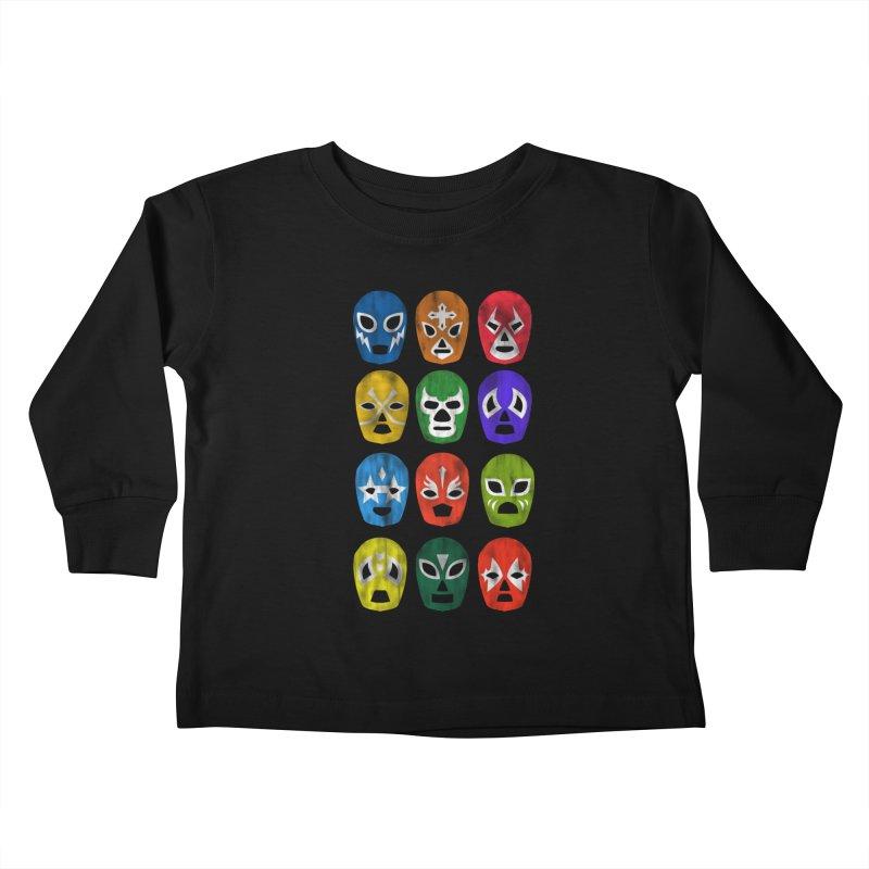LUCHADORES Kids Toddler Longsleeve T-Shirt by jrtoyman's Artist Shop